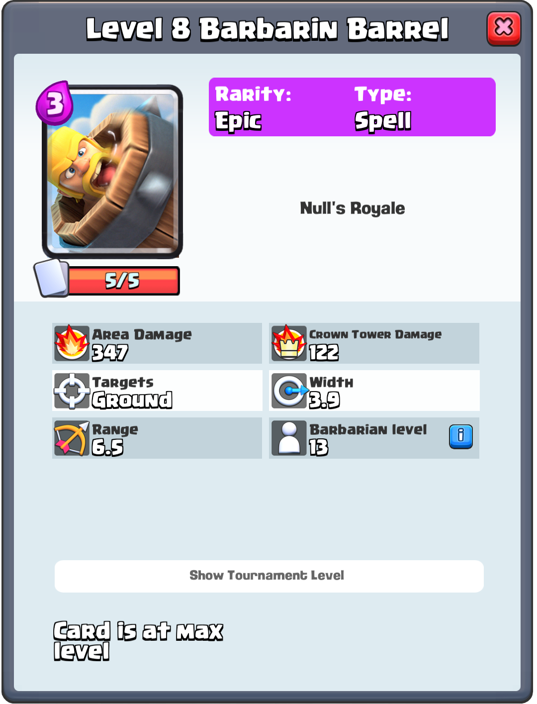 Barbarian Barrel info - Nulls Royale