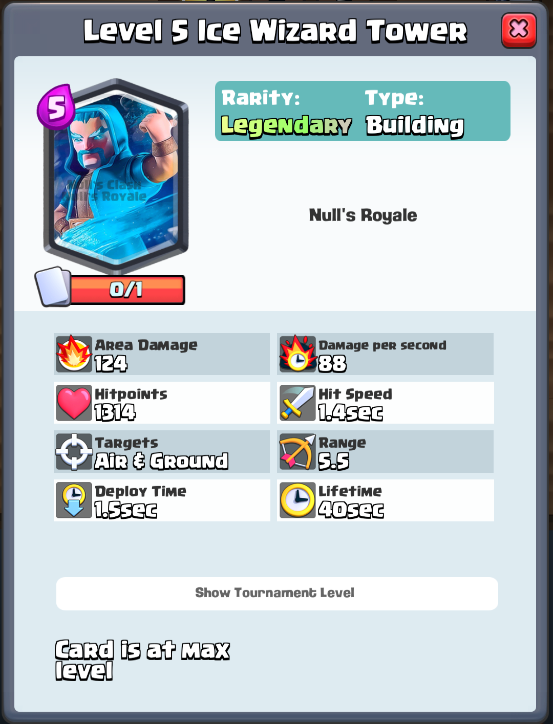 Ice Wizard Tower - Nulls Royale