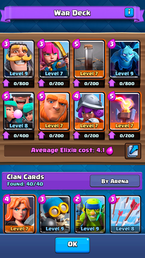 War Deck Clan Wars - Null's Royale.