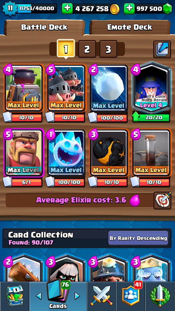 New Cards Null's Royale v.2.3.2