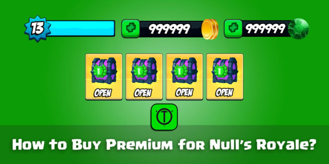 How to Buy Premium for Null's Royale?