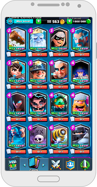 New cards on the Null's Royale server